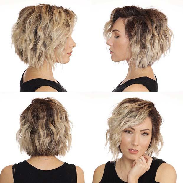Wavy Short Bob Hairstyle