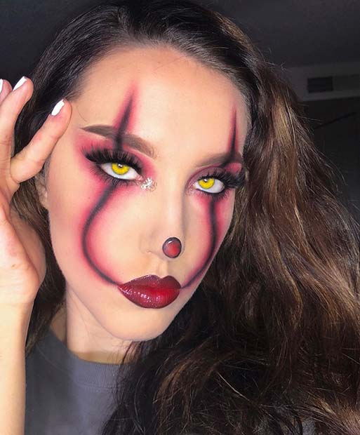 Simple and Spooky Pennywise Makeup