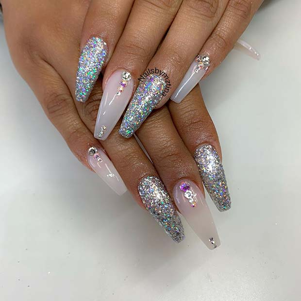 Sparkly Nails for Your Special Day