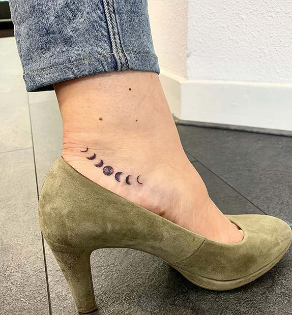 Stylish Foot Tattoo Idea