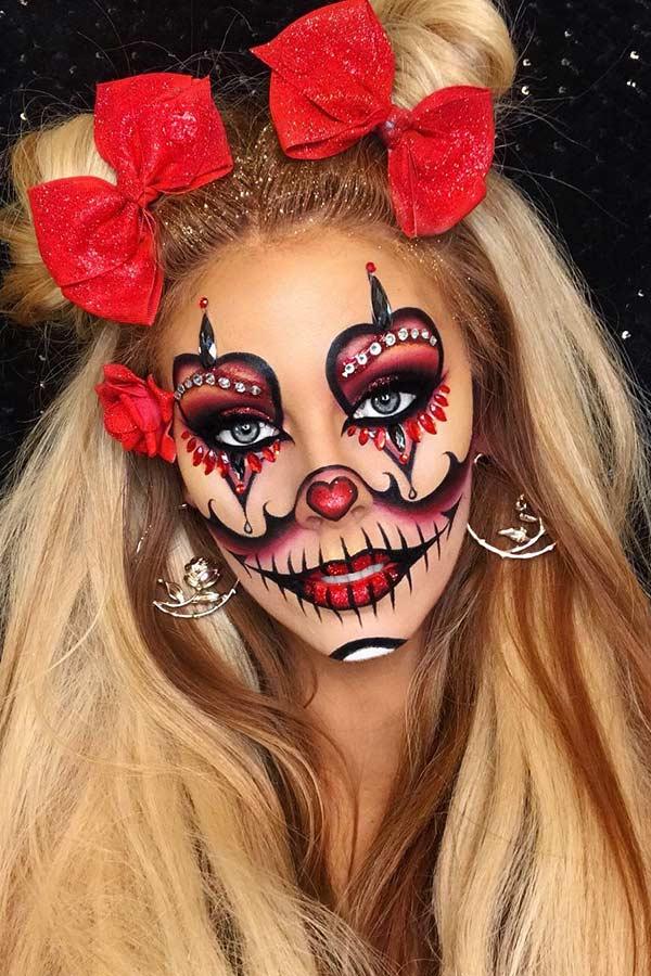 Sugar Skull Clown Makeup
