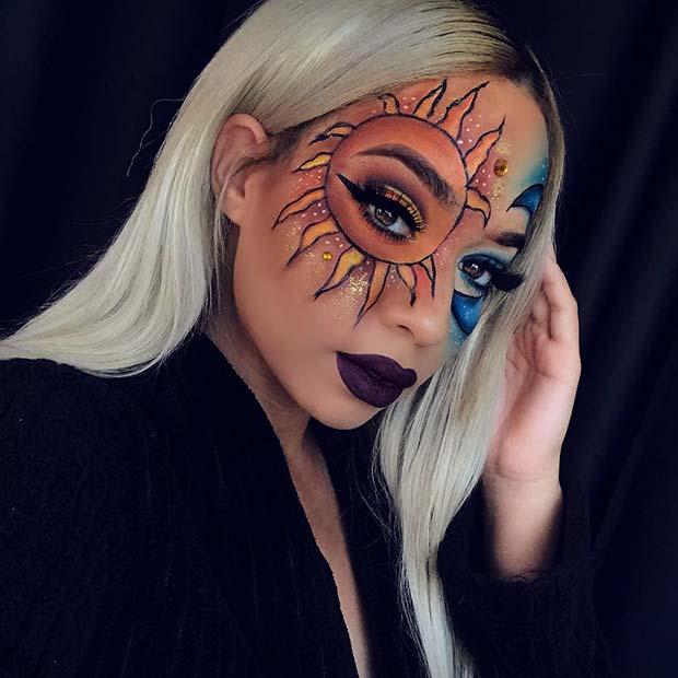 Sun and Moon Makeup