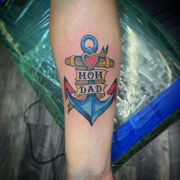 Traditional Anchor Tattoo