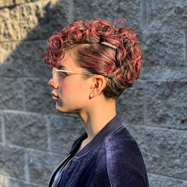 Trendy Pixie with Vibrant Highlights