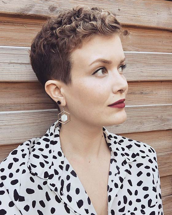 Super Short Curly Pixie Cut