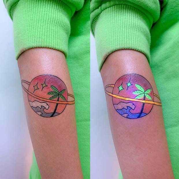 Tropical UV Tattoo