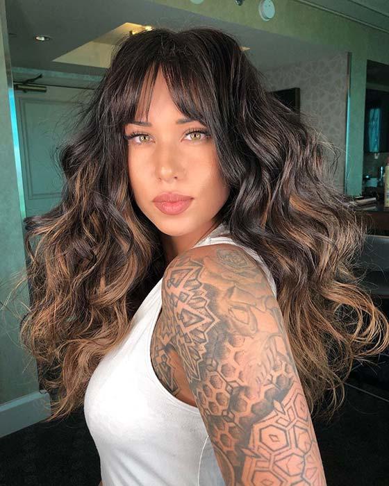 Bangs and Voluminous Curls