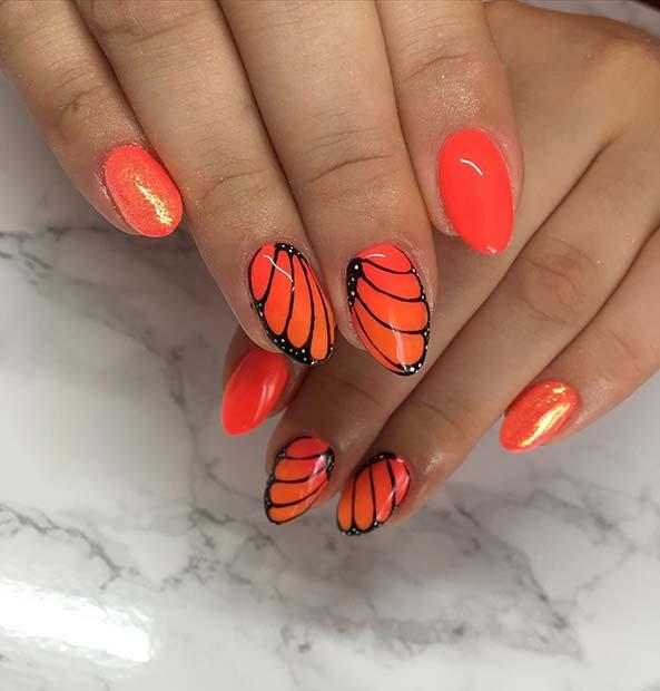 Beautiful Butterfly Nail Idea