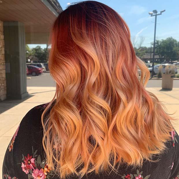 Güzel turuncu saç rengi fikri