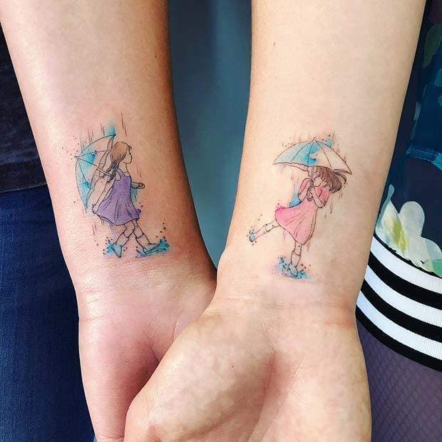 Beautiful Sisters Tattoo Inspired By Childhood