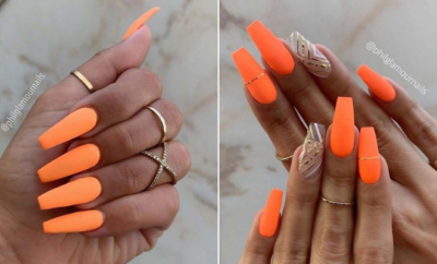 Best Orange Nail Art Ideas and Designs