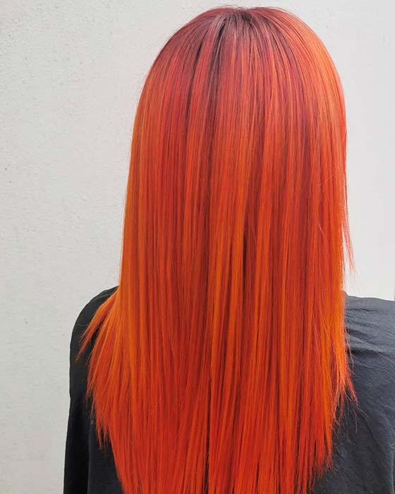 Bold and Vivid Orange Hair