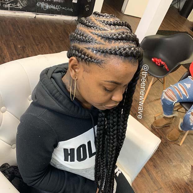 Braids with a Zigzag Pattern