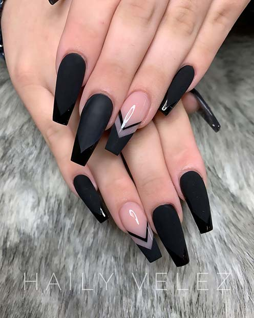 Black Nail Art: 23 Matte Nail Art Ideas That Prove This Trend Is Here To