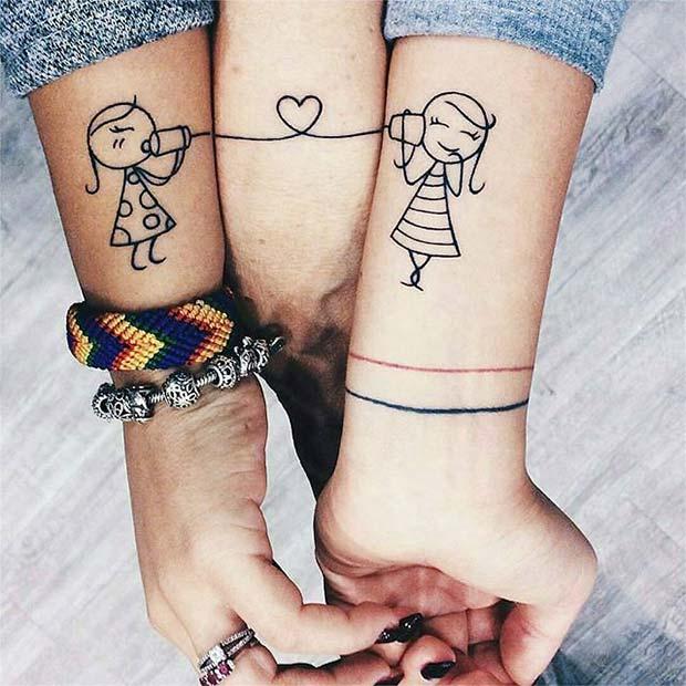 Cute Sisters Tattoos