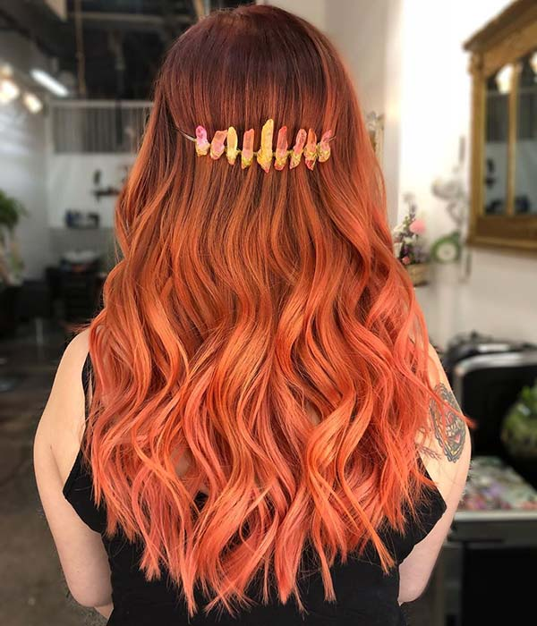 Dark Orange to Light Orange Ombre