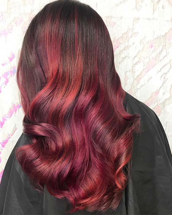 Dark Red and Burgundy Hair Color