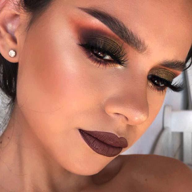 Dark and Statement Making Fall Makeup