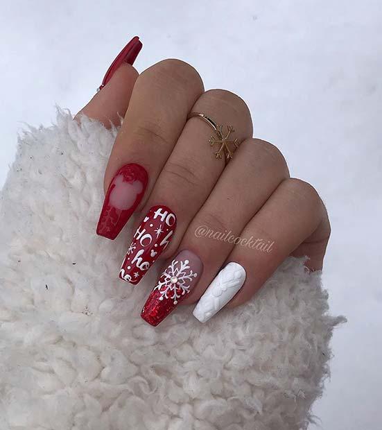Disney Inspired Christmas Nails