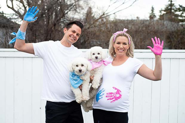 Gender Reveal with Family Pets