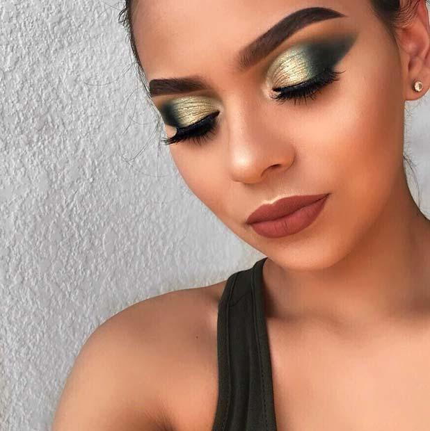 Glam Fall Makeup Idea