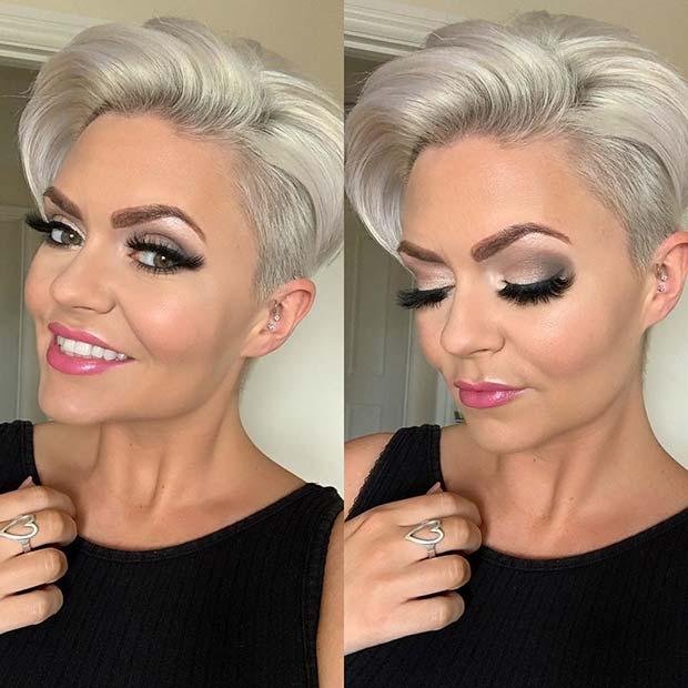 Glam and Elegant Short Hairstyle