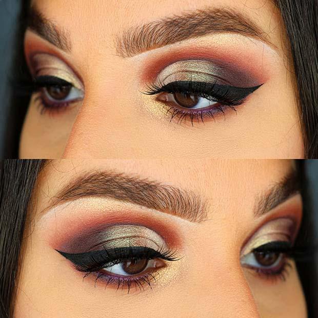 Glamorous Eye Makeup Idea