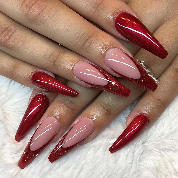 Red Coffin Nails for Christmas