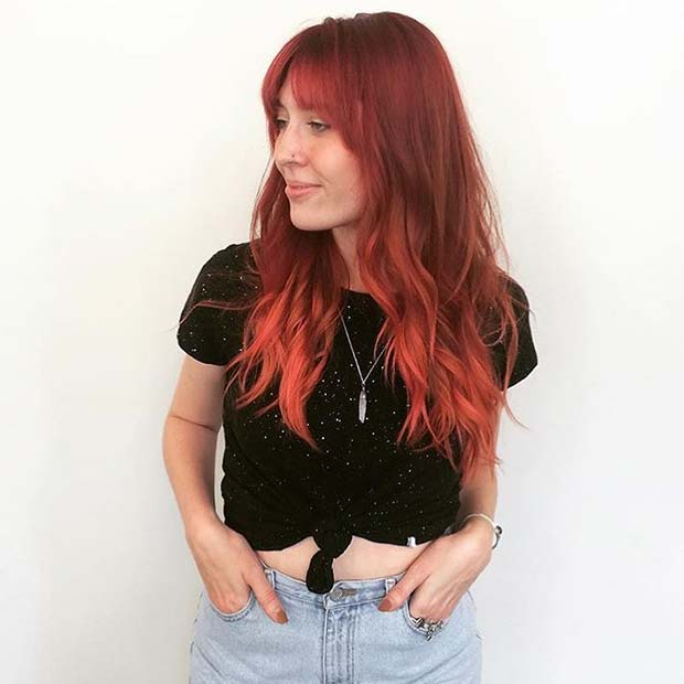 Gorgeous Red Hairstyle