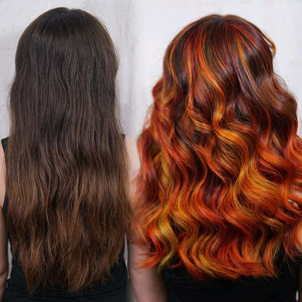 Highlighted Orange Hair