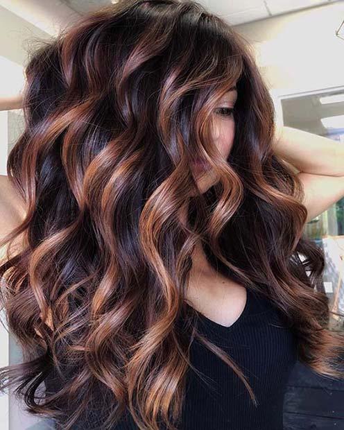 Light Highlights for Dark Hair