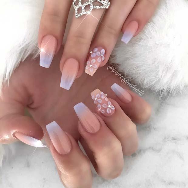 Lavender Ombre Nails