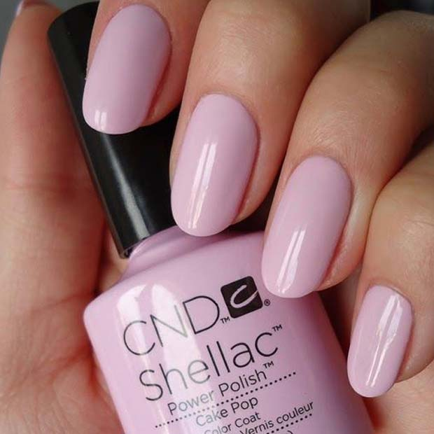 Light Pink Shellac Nails