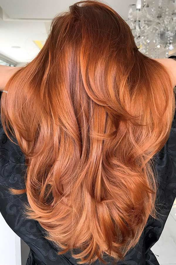 Long Layered Orange Hair Idea
