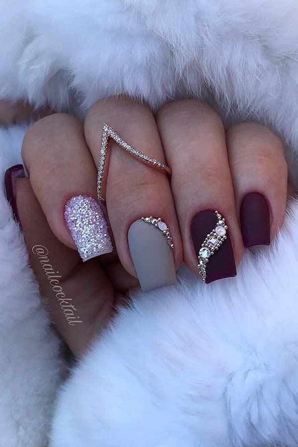 Matte Holiday Nails