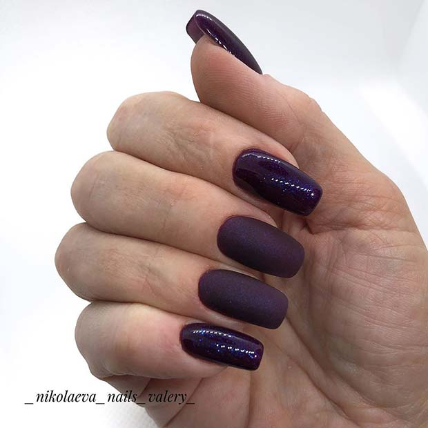 Matte and Glossy Purple Design