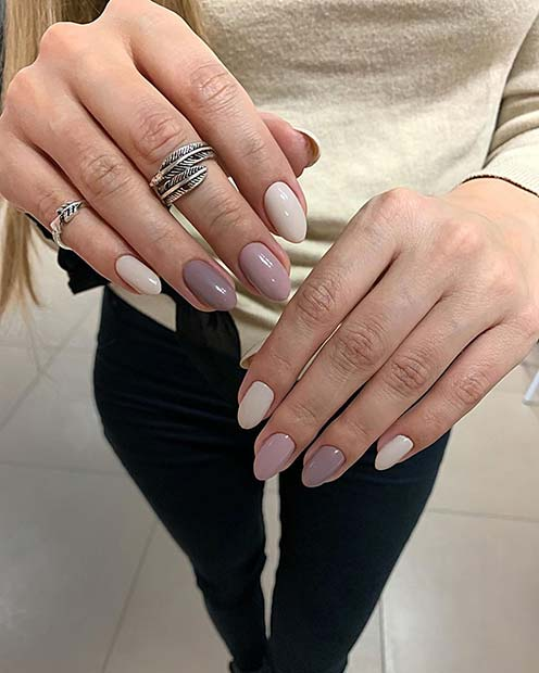 Nude Shellac Nails