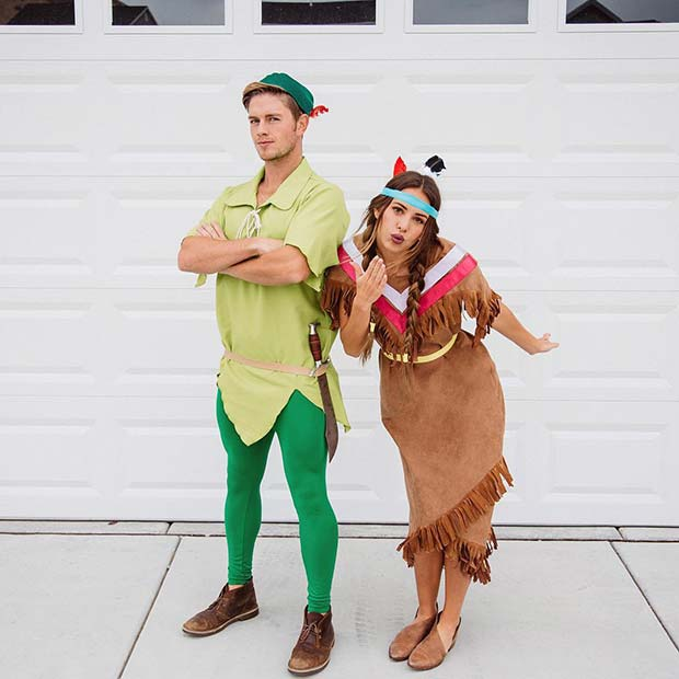Peter Pan and Tiger Lily