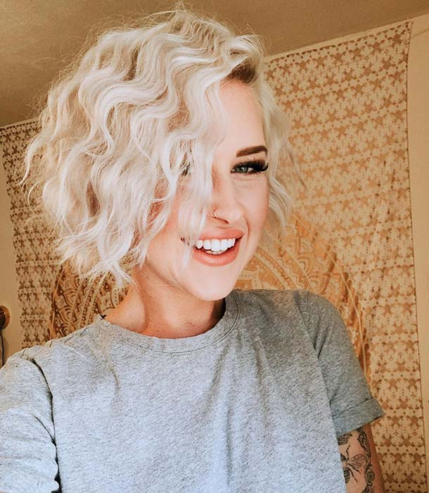 Pretty and Curly Short Hair