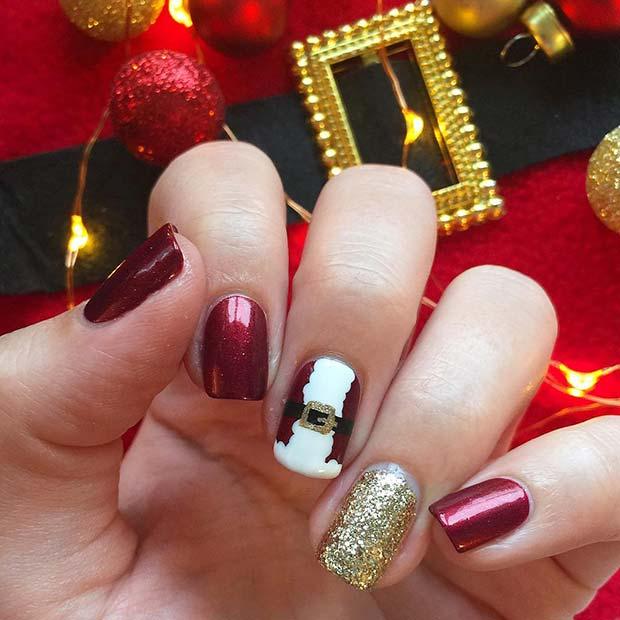 Santa Inspired Manicure