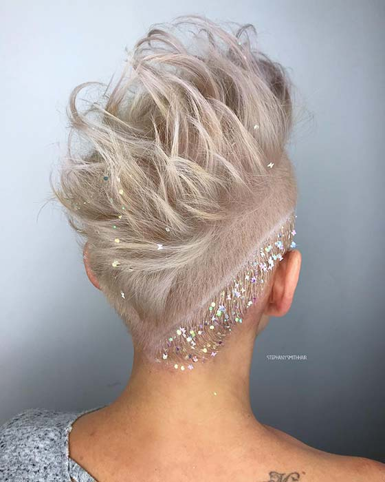 Short Hair with Sparkle