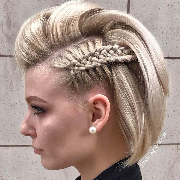 Short Hairstyle with a Unique Braid