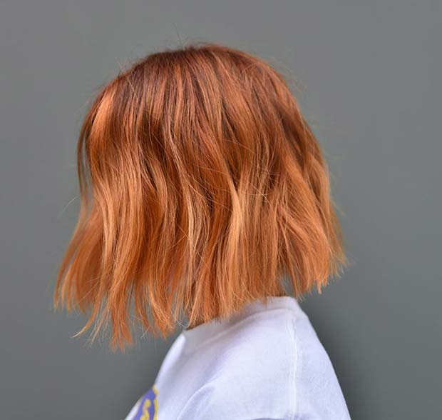 Soft Coppery Orange Bob