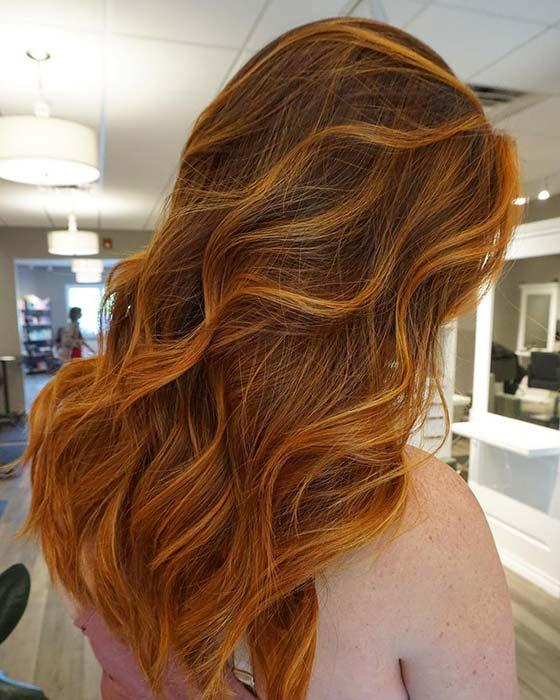 Soft and Subtle Orange Highlights