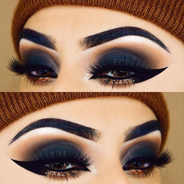 Statement Making Eyeliner with Glitter