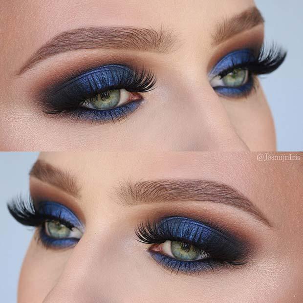 Stunning Blue Fall Makeup