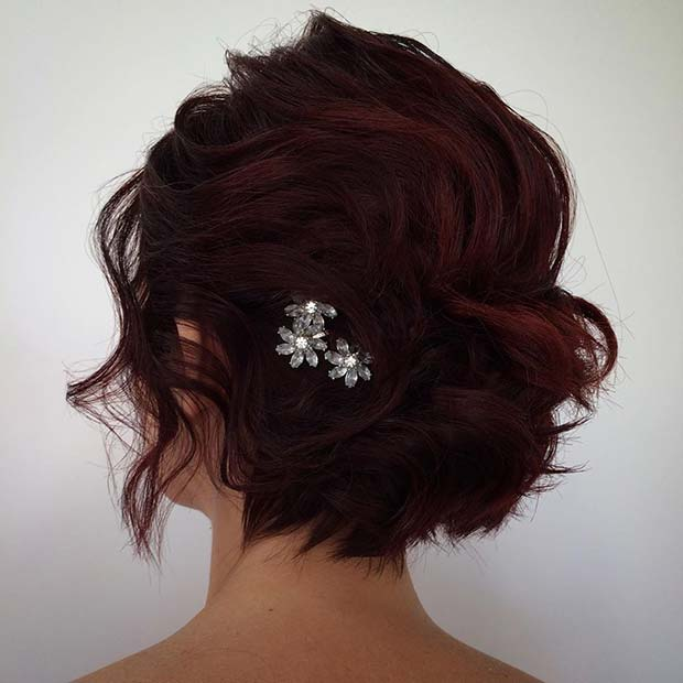 Stunning Hairstyle with a Sparkling Accessory