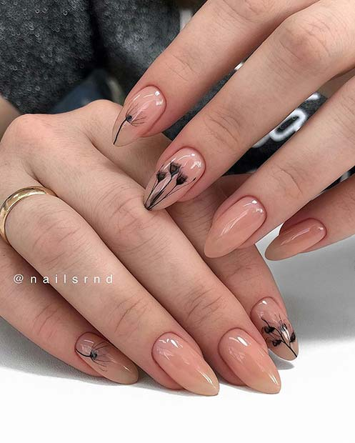 Stylish Nails with Floral Art