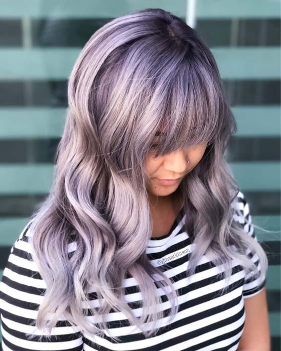 Trendy Lavender Hair Idea