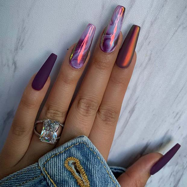 Trendy Marble Nails